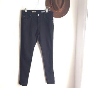 AG The Farrah Skinny High Rise Black Jeans